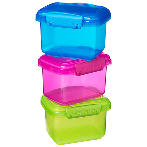Buy Sistema 400ml 3 Pack Food Storage Container