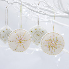 Buy John Lewis Create Your Own Felt Baubles Kit Online at johnlewis.com