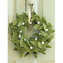 Buy John Lewis Make Your Own Traditional Felt Wreath Kit Online at johnlewis.com