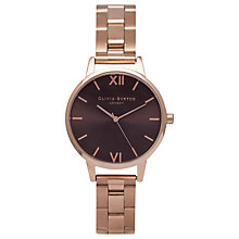 Buy Olivia Burton OB16BL36 Women's Brown Dial Bracelet Strap Watch, Rose Gold/Brown Online at johnlewis.com