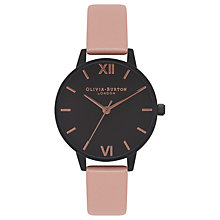 Buy Olivia Burton OB16AD06 Women's After Dark Leather Strap Watch, Dusty Pink/Multi Online at johnlewis.com
