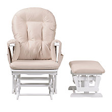 Buy Kub Haywood Reclining Glider Nursing Chair and Footstool, White Online at johnlewis.com