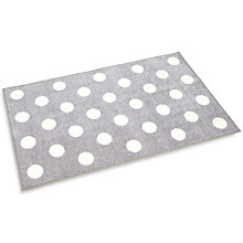 Buy Kit For Kids Polka Dot Rug, Grey Online at johnlewis.com