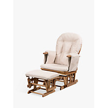 Buy Kub Haywood Reclining Glider Nursing Chair and Footstool, Beige Online at johnlewis.com