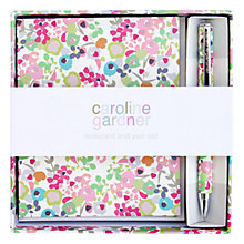Buy Caroline Gardner Ditsy Notecard and Pen Set Online at johnlewis.com