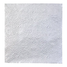 Buy Talking Tables Party Porcelain Embossed Napkins, Pack of 20, Silver Online at johnlewis.com