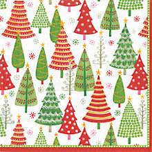 Buy Caspari Christmas Trees Napkins, Pack of 20 Online at johnlewis.com