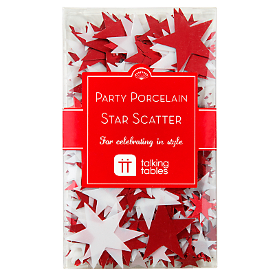 Talking Tables Star Scatter, Red And White
