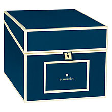 Buy Semikolon Multi Media Box, Marine Blue Online at johnlewis.com