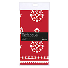 Buy John Lewis Chamonix Tablecloth, Red Online at johnlewis.com