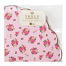 Buy Talking Tables Truly Scrumptious Scalloped Napkins, Pack of 20 Online at johnlewis.com
