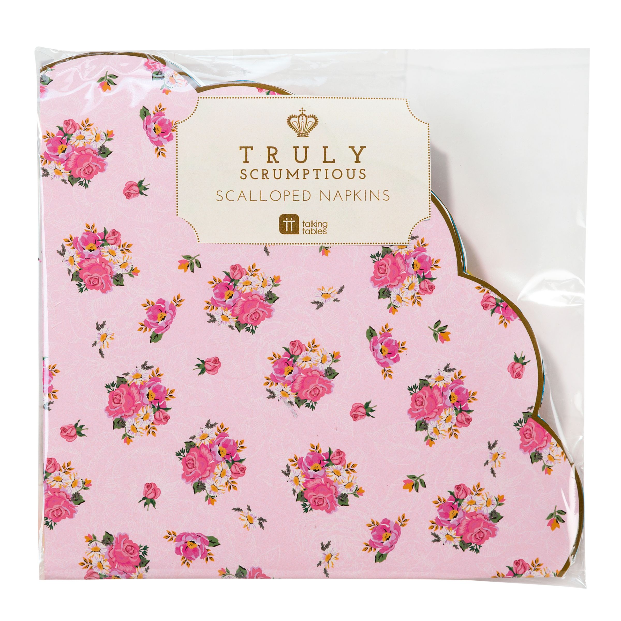 Talking Tables Talking Tables Truly Scrumptious Scalloped Napkins, Pack of 20