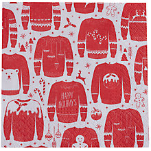 Buy Ginger Ray Christmas Jumper Happy Holidays Napkins, Pack of 20 Online at johnlewis.com