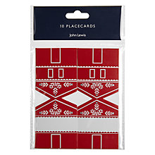 Buy John Lewis Chamonix Placecards, Pack of 10 Online at johnlewis.com