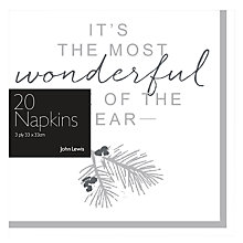 Buy John Lewis Snowshill Napkins, Pack of 20 Online at johnlewis.com