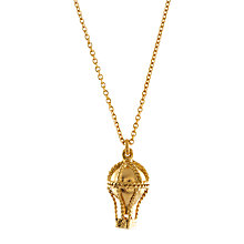Buy Alex Monroe 22ct Gold Plated Sterling Silver Small Hot Air Balloon Pendant Necklace, Gold Online at johnlewis.com
