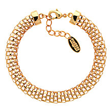 Buy Finesse Mesh Bracelet, Gold Online at johnlewis.com