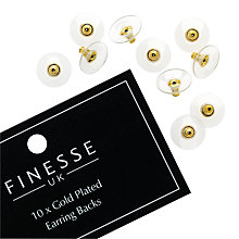 Buy Finesse Gold Plated Earring Backs, Gold Online at johnlewis.com