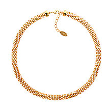 Buy Finesse Mesh Necklace, Gold Online at johnlewis.com