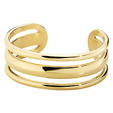 Buy Dyrberg/Kern Sliced Open Cuff, Gold Online at johnlewis.com