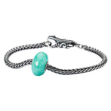 Buy Trollbeads Amazonite Charm Bracelet, Silver/Green Online at johnlewis.com