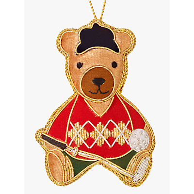 Image of Tinker Tailor Tourism Golfing Bear Tree Decoration