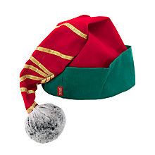 Buy Portable North Pole Adult Elf Hat, Red / Green Online at johnlewis.com