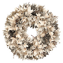 Buy John Lewis Snowshill Rosette & Foliage Wreath, Grey Online at johnlewis.com