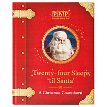 Buy Portable North Pole Twenty-Four Sleeps 'til Santa Christmas Countdown Story Book Online at johnlewis.com