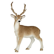 Buy John Lewis Ruskin House Flocked Deer With Gold Antler, Standing Online at johnlewis.com