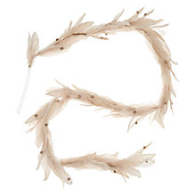 Buy John Lewis Ostravia Feather Garland, Cream Online at johnlewis.com