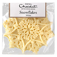 Buy Hotel Chocolat White Chocolate Snowflakes Online at johnlewis.com