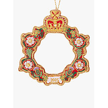 Buy Tinker Tailor Tourism Royal Wreath Tree Decoration Online at johnlewis.com