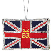 Buy Tinker Tailor Tourism ER Great Britain Flag Bauble Online at johnlewis.com