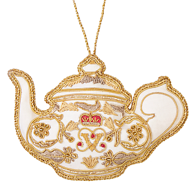 Image of Tinker Tailor Tourism British Teapot Tree Decoration
