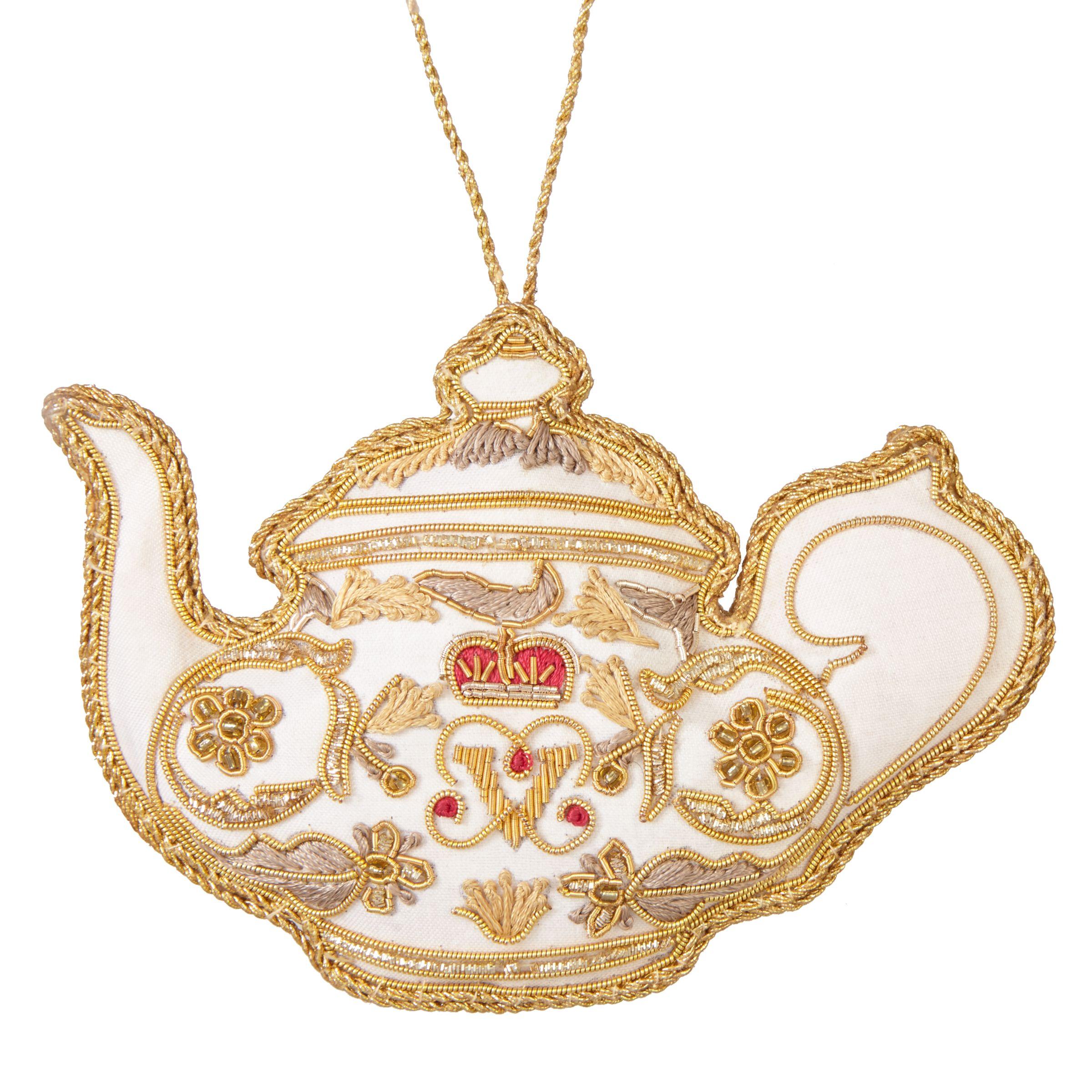 Tinker Tailor Tinker Tailor Tourism British Teapot Tree Decoration