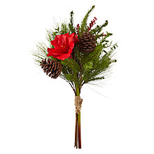 Buy John Lewis Amaryllis, Berries & Pine Bunch Online at johnlewis.com
