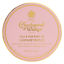Buy Charbonnel et Walker Milk & Pink Marc De Champagne Truffles, 275g Online at johnlewis.com