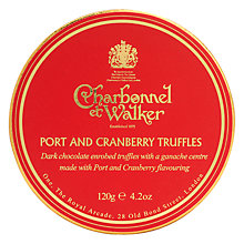 Buy Charbonnel et Walker Port & Cranberry Truffles, Box of 6, 120g Online at johnlewis.com