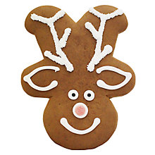 Buy Gingerbread Reindeer Head, 110g Online at johnlewis.com