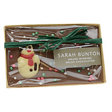 Buy Sarah Bunton Christmas Decorated Chocolate Bar, 110g Online at johnlewis.com
