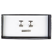Buy Ted Baker Getredy Cufflink and Tie Bar Set, Silver Online at johnlewis.com