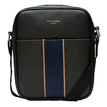 Buy Ted Baker TB Web Flight Bag, Chocolate Online at johnlewis.com