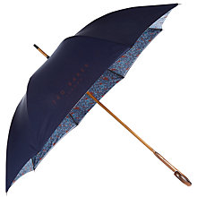 Buy Ted Baker Bucket Interior Floral Print Umbrella, Navy Online at johnlewis.com