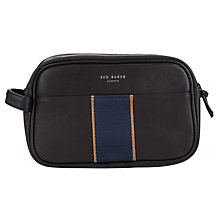 Buy Ted Baker Webwash Exclusive Core Webbing Wash Bag , Chocolate Online at johnlewis.com