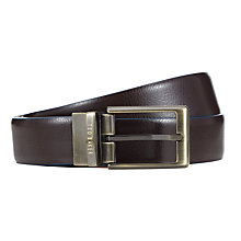 Buy Ted Baker Reverse Belt, Chocolate Online at johnlewis.com