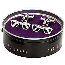 Buy Ted Baker Specs Glasses Cufflinks, Silver Online at johnlewis.com
