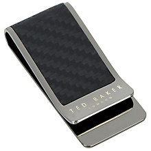 Buy Ted Baker Broad Carbon Fibre Money Clip, Gunmetal Online at johnlewis.com