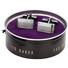 Buy Ted Baker Halfit Corner Stone Cufflinks Online at johnlewis.com