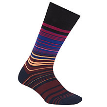 Buy Paul Smith Higgle Stripe Socks, One Size, Black/Multi Online at johnlewis.com